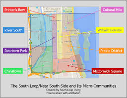 The Loop Chicago Map by South Loop Borders Our Take South Loop Living