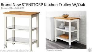 ikea stenstorp kitchen island ikea stenstorp kitchen island trolley solid oak top ebay
