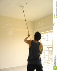 man painting ceiling royalty free stock photography image 669227
