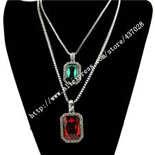 red big necklace images 2016 new fashion big red and green stone necklace set with color jpg