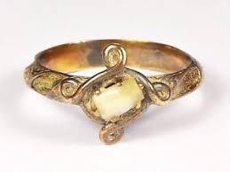 mourning ring antique 9k gold mourning ring w milk