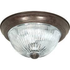 Flush Mount Ceiling Light Shade Nuvo 76 608 3 Light 15