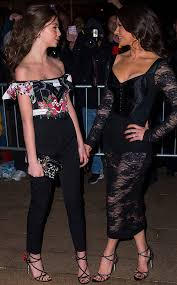 catherine zeta jones catherine zeta jones brings look alike daughter carys to dolce