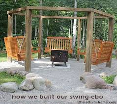 fire pit swing gazebo can you believe my husband and i built