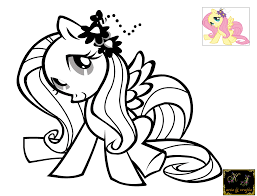 fluttershy coloring pages pony fluttershy coloring
