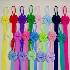 bow holders hair bow holder solid color grosgrain ribbon boutique hair clip