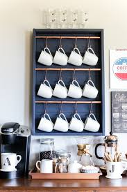 Types Of Coffee Mugs 10 Crazy Cute Ways To Organize Your Coffee Cups Colorful Wall