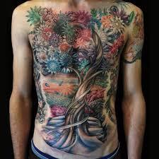 chest flower belly tree by allen