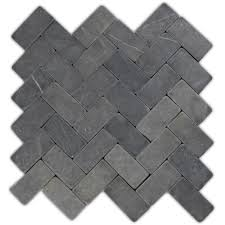 Shower Floor Mosaic Tiles by Grey Herringbone Stone Mosaic Tile Stone Mosaic Tile Stone