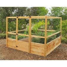 gardens to gro 8 x 8 ft deer proof vegetable garden kit hayneedle