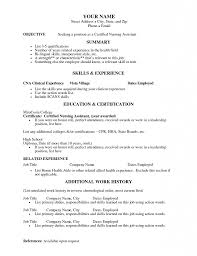 Little Experience Resume Sample Cna Resume Objectives Cna Resume Objective Cna Resume With