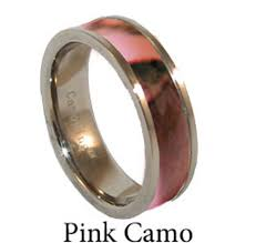 Pink Camo Wedding Rings by Muddy Pink Camo Trends