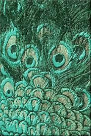 silk peacock home decor luxe designer emerald peacock art rug enjoy be inspired more