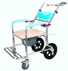creative shower chair with wheels commode chair shower chair with