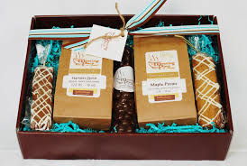 coffee gift basket coffee gift birthday gift set in chocolate brown blue