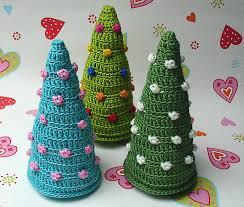 christmas trees crochet pattern photo tutorial