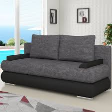 canapé convertible avec rangement craquez pour ce canapé gris et noir avec couchage et coffre de