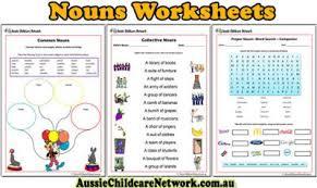 noun worksheets for kindergarten worksheets