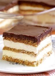 no bake chocolate eclair icebox cake cakescottage