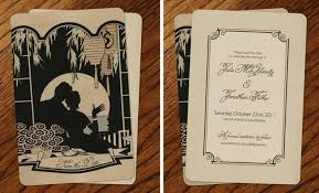 vintage wedding invitations by go go snap