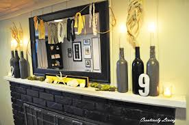 Yellow Fireplace by Summer Mantel And Fireplace Makeover Wtkw Creatively Living Blog
