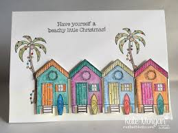 aussie christmas card using stampin up beachy little christmas by