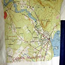 map of camden maine camden maine 1955 topographic map shirt topotees wear the