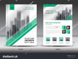 annual report brochure flyer template green stock vector 668937430