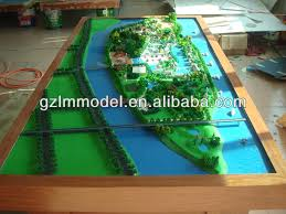 scale model layout design modern building rendering drawing house