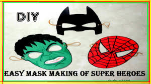easy diy masks superheroes