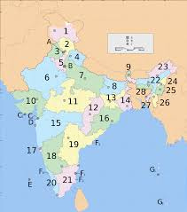 Indian Map File India States And Union Territories Numbered Map Svg