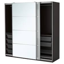 Schlafzimmerschrank Reinigen Pax Kleiderschrank 200x66x201 Cm Schiebetürdämpfer Ikea