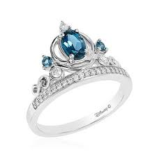 cinderella engagement ring enchanted disney 0 79ctw blue topaz and cinderella
