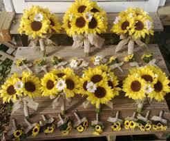 sunflower wedding bouquet sunflower bouquet 17 set sunflower bridal bouquet rustic
