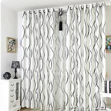 White Patterned Curtains Modern Black And White Striped Curtains Living Room