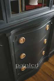 graphite chalk paint kitchen cabinets china cabinet painted in sloan graphite and linen
