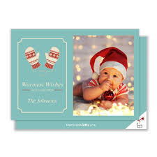 warmest wishes photo card wishes family photo christmas card