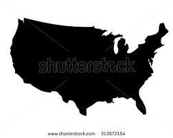united states map black and white free us map silhouette vector