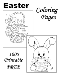 easter coloring sheets free printable