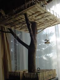 tree house constructed just as would a regular tree house made