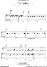 Chandelier Sia Piano Sheet Music Sia Bird Set Free Sheet Music For Voice Piano Or Guitar