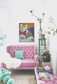 teal and pink living room home design