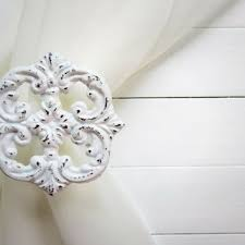 Metal Curtain Tiebacks Best White Curtain Tie Back Products On Wanelo