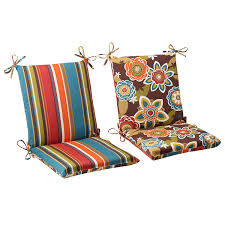 Striped Patio Chair Cushions by Amazon Com Pillow Perfect Indoor Outdoor Annie Westport