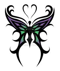 butterfly designs cool purple green tribal butterfly