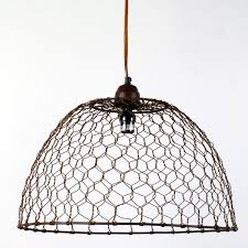 Wire Pendant Light Adorable Wire Pendant Light Chicken Wire Basket Pendant L Barn