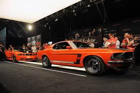 ford mustang 302 s barrett jackson 2012 matching 2012 and 1969 mustang 302s