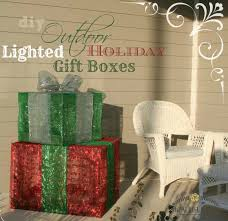 Decorative Christmas Gift Boxes Outdoor Lighted Christmas Gift Boxes Front Porch Christmas Decor