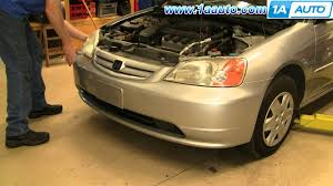 how to install replace remove front bumper cover honda civic 01 05