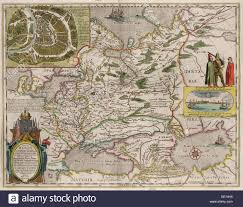 Moscow Russia Map Map Of Russia And Moscow From Theatrum Orbis Terrarum 1645
